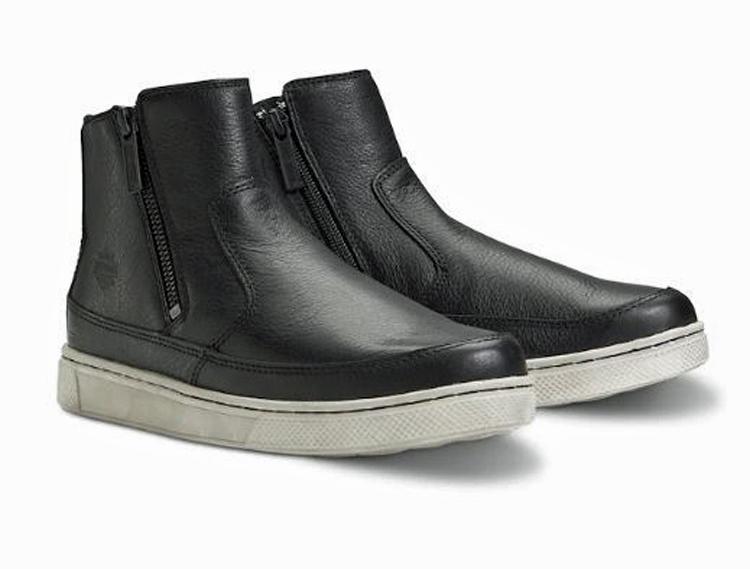 HARLEY-DAVIDSON® FOOTWEAR Women's Silvana Motorcycle Riding Sneakers | Black | Dual Zippers