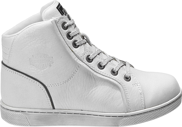 HARLEY-DAVIDSON® FOOTWEAR Women's Bateman Waterproof Motorcycle Riding Sneakers | White | Reflective Materials