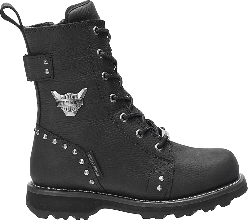 HARLEY-DAVIDSON® FOOTWEAR Women's Ardmore Waterproof Motorcycle Riding Boots | Black