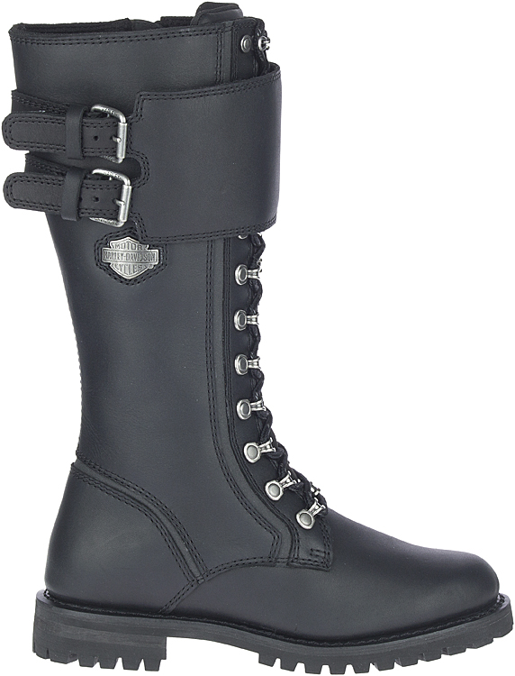 """HARLEY-DAVIDSON® FOOTWEAR Women's Grimes 12"""" Lace Motorcycle Riding Boots 