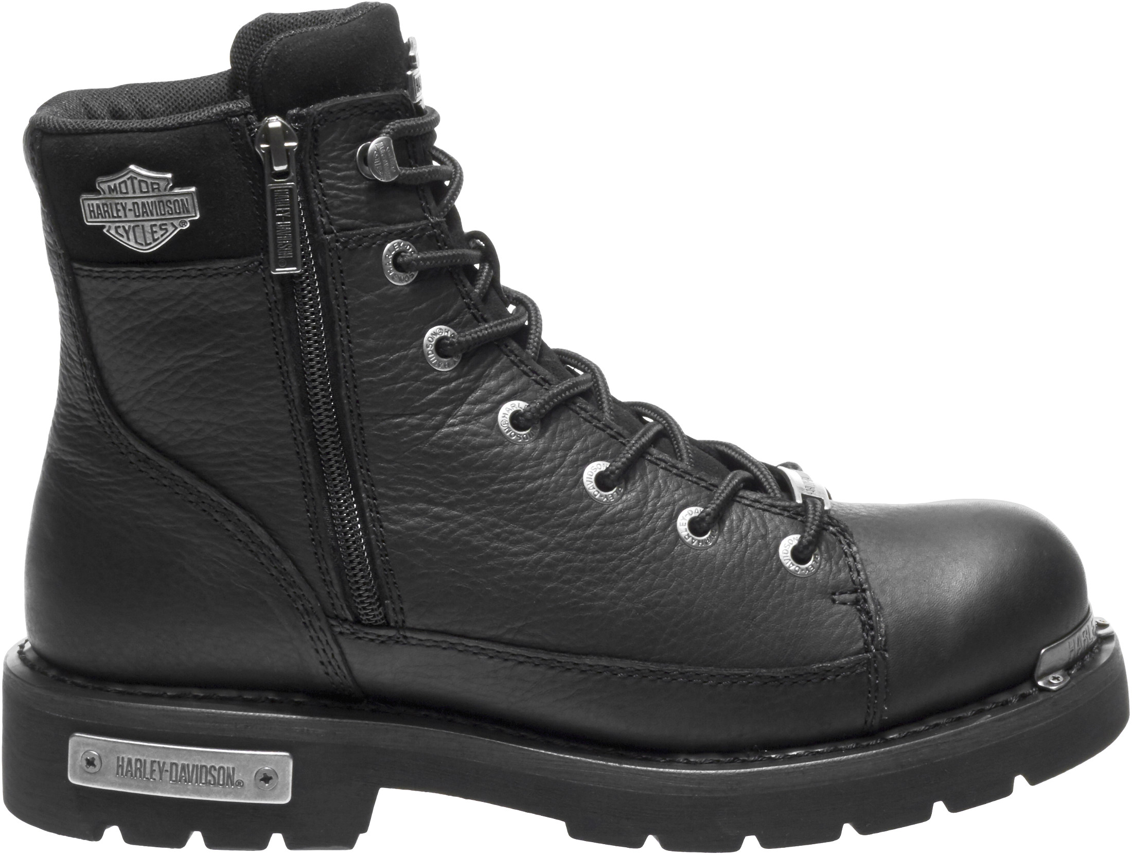 HARLEY-DAVIDSON® FOOTWEAR Men's Chipman Motorcycle Riding Boots | Outside Locking Zipper