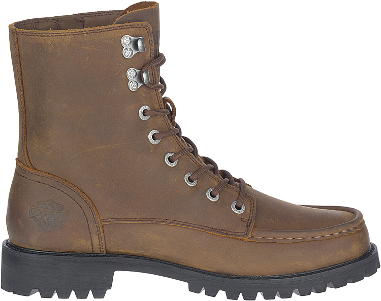 HARLEY-DAVIDSON® FOOTWEAR Men's Brentmoore Motorcycle Riding Boots | Brown | Vibram® Outsole