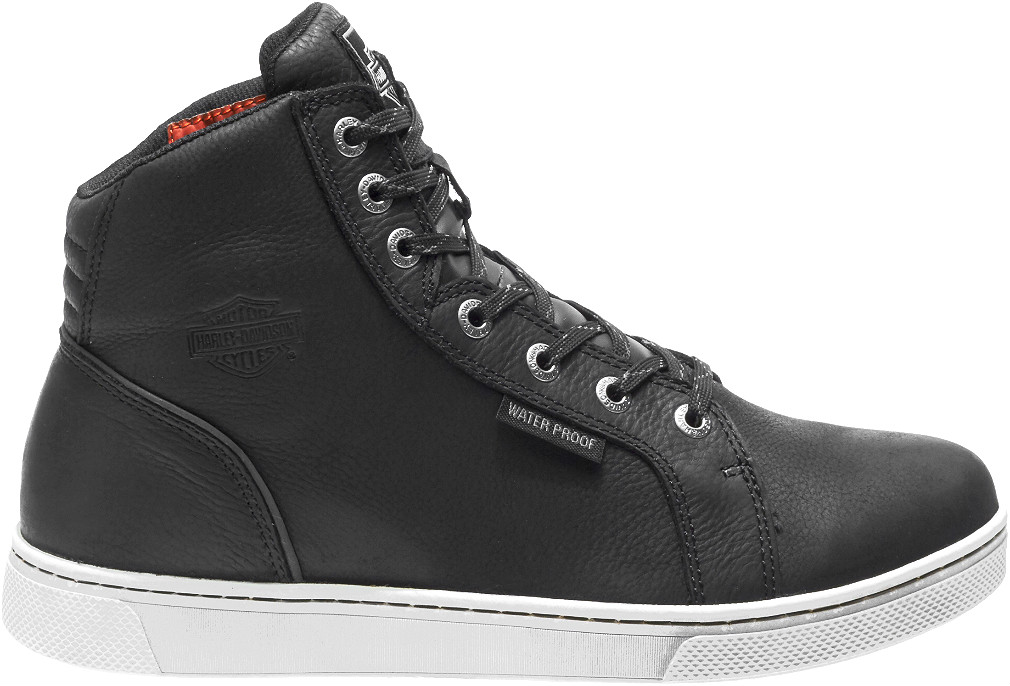 HARLEY-DAVIDSON® FOOTWEAR Men's Waterproof Midland Motorcycle Riding Sneakers | Black | Impact Protection | Meets European PPE Standards