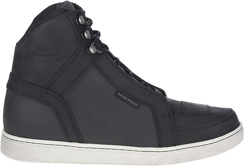 HARLEY-DAVIDSON® FOOTWEAR  Men's Tremont Waterproof Motorcycle Riding Sneakers | Reflective Underlay