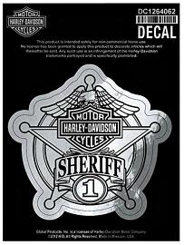 Harley-Davidson® Sheriff Original Chrome Decal | Small