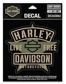 Harley-Davidson® Military Star Decal | Small