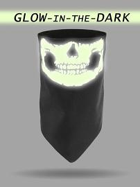 That's A Wrap!® Glow In The Dark Jaw Dust Gaiter | Skull Reverses to Tribal Flame