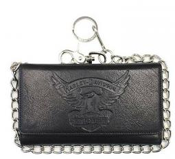 "Harley-Davidson® Men's Eagle Tall Biker Wallet | Tri-Fold | RFID Protection | 19"" Chain"