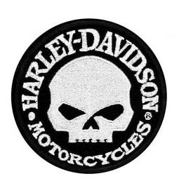 Harley-Davidson® Willie G® Skull Logo Hubcap Patch | Small
