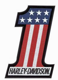 Harley-Davidson® Red, White & Blue #1 Emblem | Small
