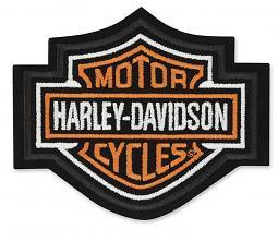 Harley-Davidson® Orange Bar & Shield® Emblem | Small