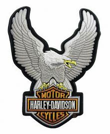 Harley-Davidson® Upwinged Silver Eagle Bar & Shield® Logo Emblem | Large