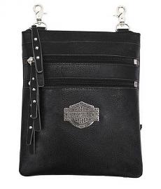 Harley-Davidson® Women's Bar & Shield® Filigree Vertical Hip Bag | Detachable Strap
