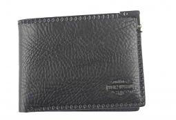 Harley-Davidson® Men's Gunmetal Leather Billfold Wallet | Removable ID Sleeve