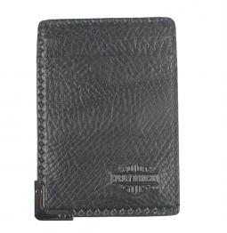 Harley-Davidson® Men's Gunmetal Leather Front Pocket Wallet