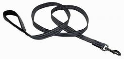 Harley-Davidson® Reflective Premium Dog Leash | Black/Grey Weave | 6' Long