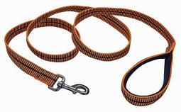 Harley-Davidson® Reflective Premium Dog Leash | Orange/Black Weave | 6' Long