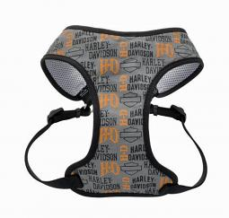 Harley-Davidson® Designer Wrap Adjustable Harness | Harley® Logo Grey