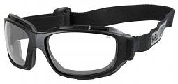 Harley-Davidson® Men's Bend Goggles | Clear Lenses | Collapsible Black Frames