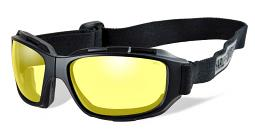 Harley-Davidson® Unisex Wiley-X® Bend Goggles | Yellow Lenses | Collapsible Matte Black Frames