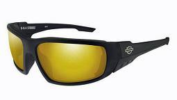 Harley-Davidson® Men's Wiley X® 4 Stroke Sunglasses | Orange Mirror Lenses With Amber Base | Gloss Black Frames