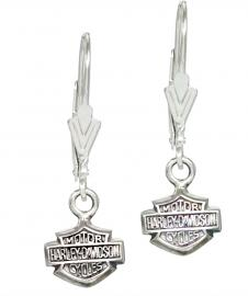 Harley-Davidson® Women's Bar & Shield® Dangle Charm Earrings