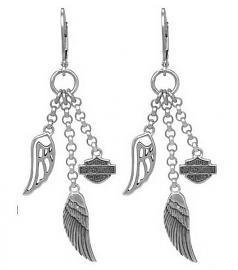 Harley-Davidson® Women's Multi-Wing Drop Earrings