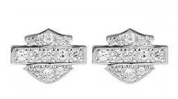 Harley-Davidson® Women's Bling Bar & Shield® Post Earrings