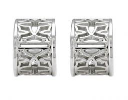 Harley-Davidson® Women's Bar & Shield® Medallion Earrings | Mini Hoops