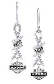 Harley-Davidson® Women's Bling Barb Wire French Hook Earrings