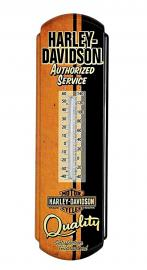 Harley-Davidson® Retro Authorized Service Metal Wall Thermometer