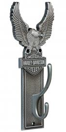 Harley-Davidson® Antique Pewter Eagle Coat Hook | Bar & Shield® | Double Hook