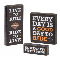 Harley-Davidson® Pub Sign Trio