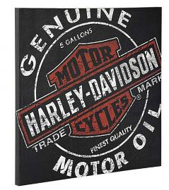 Harley-Davidson® Oil Can Label Canvas Print