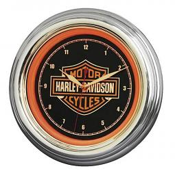 Harley-Davidson® Bar & Shield® LED Wall Clock