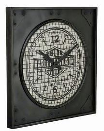 Harley-Davidson® Industrial Metal Clock | Metal Cage Covers Face