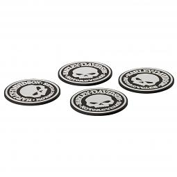 Harley-Davidson® Rubber Coaster Set | Willie G® Skull | Set of Four