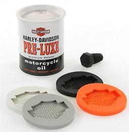 Harley-Davidson® Oil Drum Wine Gift Set | Bar & Shield® Coasters