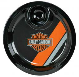Harley-Davidson® Bar & Shield® Chip & Dip Serving Tray | Tri-Color