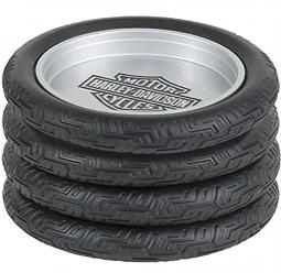 Harley-Davidson® Bar & Shield® Tire Coaster Set | Set of Four
