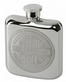 Harley-Davidson® Engraved Circle Logo Hip Flask   Stainless Steel