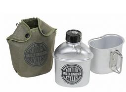 Harley-Davidson® Circle Logo Canteen Set   Includes Bowl and Canvas Pouch