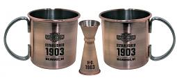 Harley-Davidson® Moscow Mule Cocktail Set | Two Mugs & A Jigger