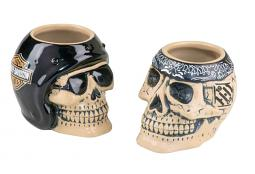 Harley-Davidson® Skull Rider Shot Glass Set | Ceramic | Set of Two