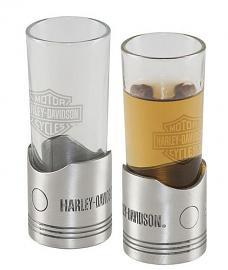 Harley-Davidson® Piston Shot Glass Set   Set of Two