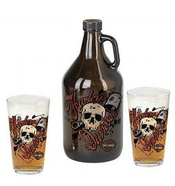 Harley-Davidson® Piston Growler Set | Set Includes Growler & Two Pint Glasses