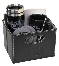 Harley-Davidson® Bar & Shield® Logo Gift Set | In Faux Leather Bin