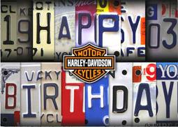 Harley-Davidson® License Plate Birthday Card