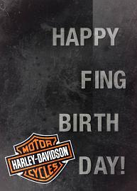 Harley-Davidson® Happy F-ing Birthday Card