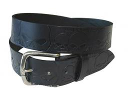 Harley-Davidson® Men's Muscle Up Belt | Willie G® Skull Embossed Graphics
